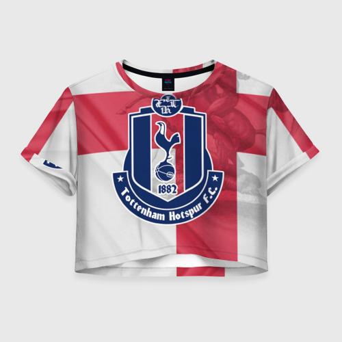 Женская футболка Crop-top 3D Тоттенхэм Хотспур