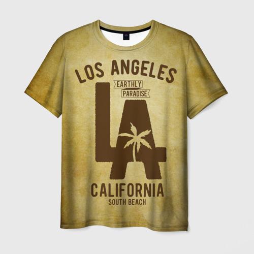 Мужская футболка 3D Лос-Анджелес