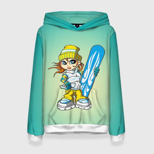 Женская толстовка 3D Snowboard girl 1