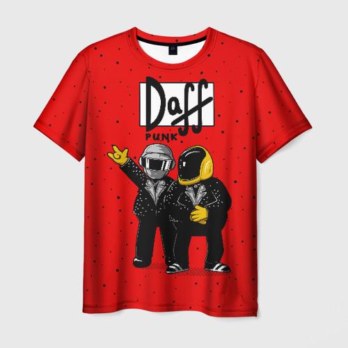 Мужская футболка 3D Daff Punk
