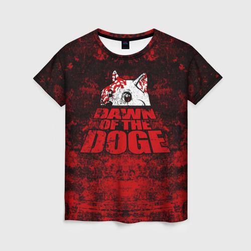 Женская футболка 3D Dawn of the Doge