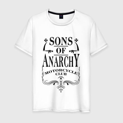 Мужская футболка хлопок Сыны Анархии Whiskey