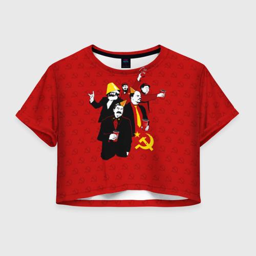 Женская футболка Crop-top 3D Communist Party