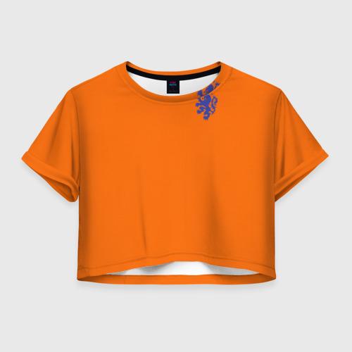 Женская футболка Crop-top 3D Сборная Голландии