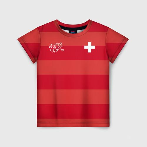 Детская футболка 3D Сборная Швейцарии
