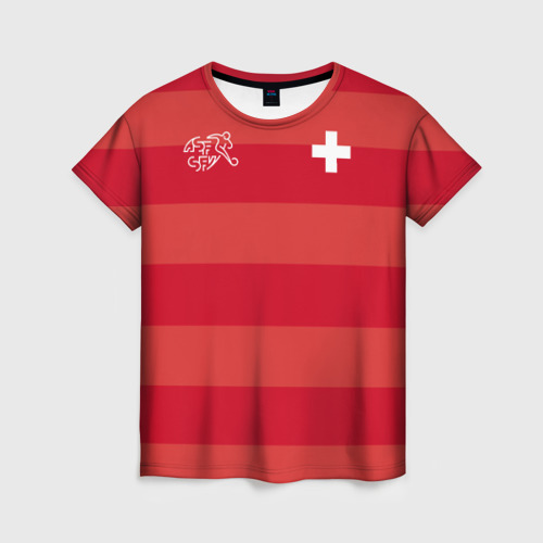 Женская футболка 3D Сборная Швейцарии