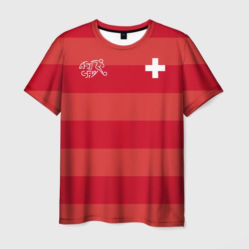 Мужская футболка 3D Сборная Швейцарии