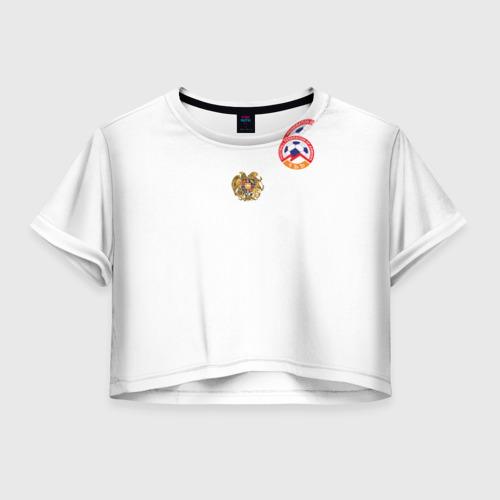 Женская футболка Crop-top 3D Сборная Армении
