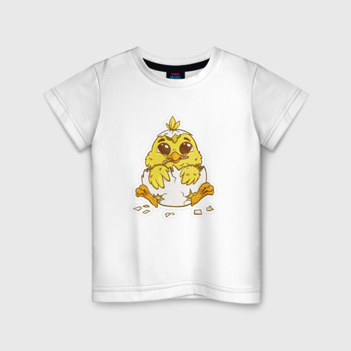 Детская футболка хлопок Цыпленок