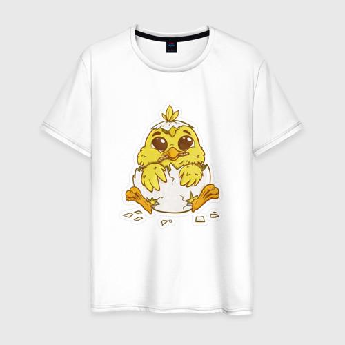 Мужская футболка хлопок Цыпленок