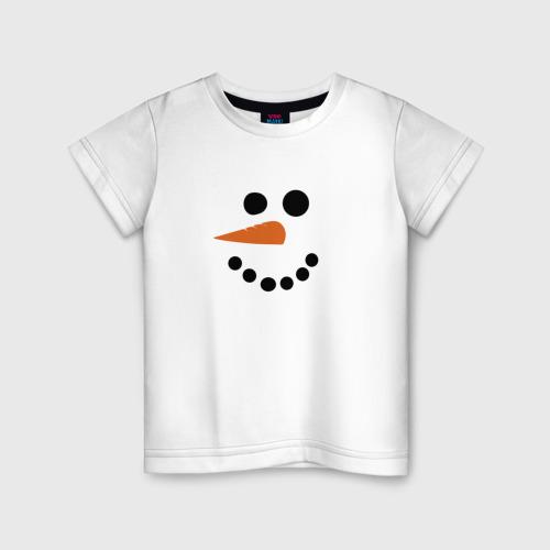 Детская футболка хлопок Снеговик минимализм