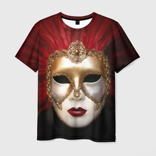 Мужская футболка 3D Венецианская маска
