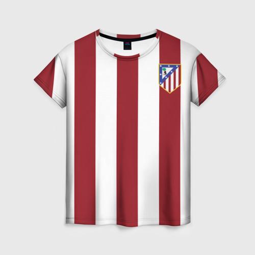 Женская футболка 3D Атлетико Мадрид