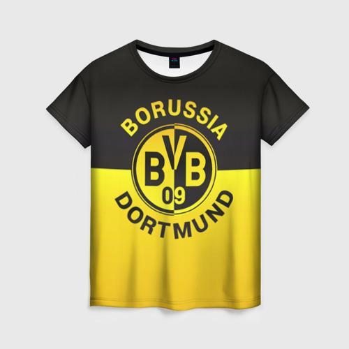 Женская футболка 3D Borussia Dortmund FC