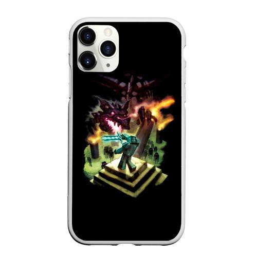 Чехол для iPhone 11 Pro Max матовый MINECRAFT