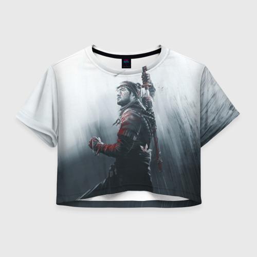 Женская футболка Crop-top 3D Shadow Tactics