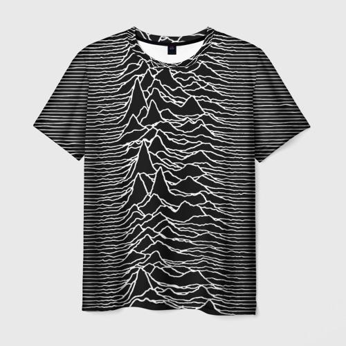 Мужская футболка 3D Joy Division. Unknown Pleasures