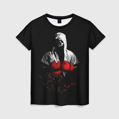 Женская футболка 3D Мертвый боксер