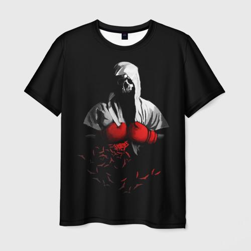 Мужская футболка 3D Мертвый боксер