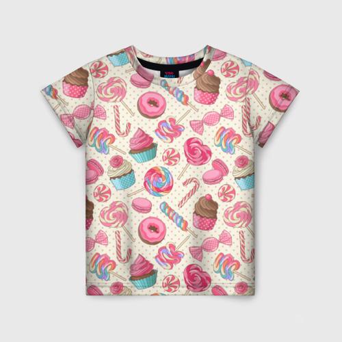Детская футболка 3D Радости и сладости