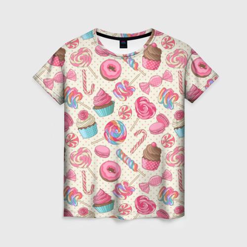 Женская футболка 3D Радости и сладости