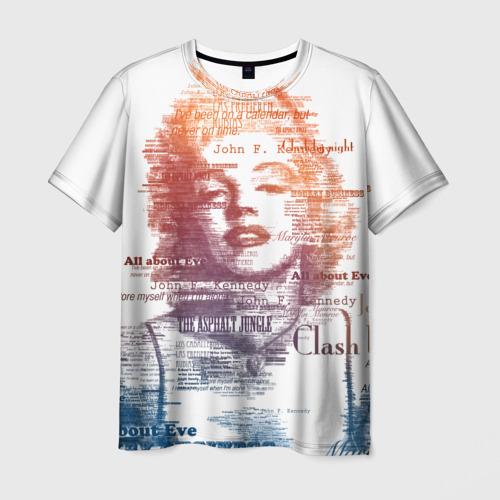 Мужская футболка 3D Мэрилин Монро