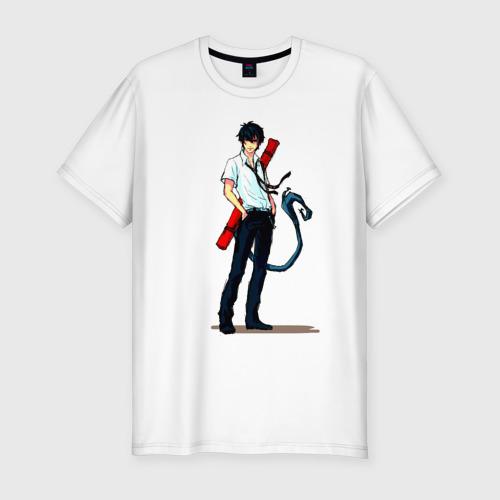Мужская футболка хлопок Slim Рин Окумура