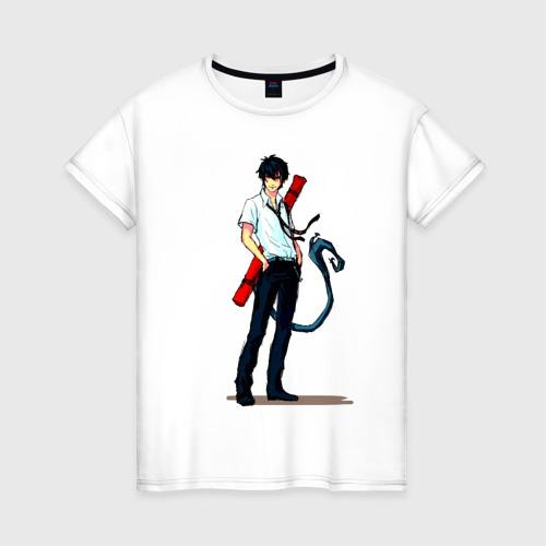 Женская футболка хлопок Рин Окумура