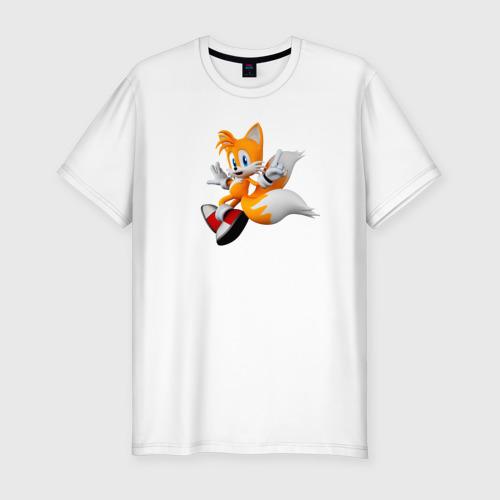 Мужская футболка хлопок Slim Лисенок Тейлз