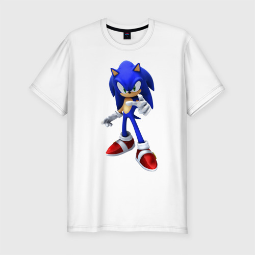 Мужская футболка хлопок Slim ЁЖ Соник