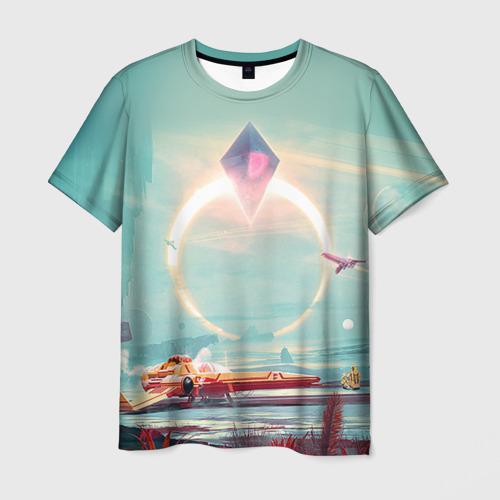 Мужская футболка 3D No Man's Sky 2