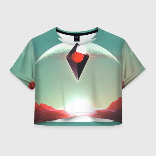 Женская футболка Crop-top 3D No Man's Sky 4