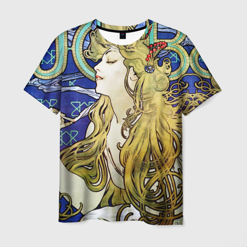 Мужская футболка 3D Alphonse Maria Mucha