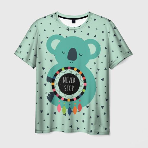 Мужская футболка 3D Мечтающая коала