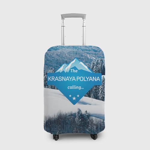 Чехол для чемодана 3D Красная поляна