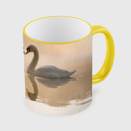 Кружка с полной запечаткой лебеди