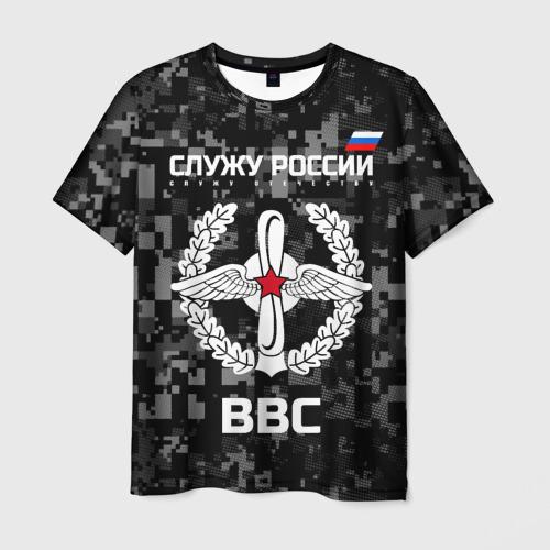 Мужская футболка 3D Служу России, ВВС