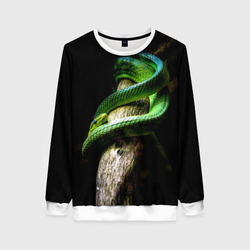 Женский свитшот 3D Змея на груди