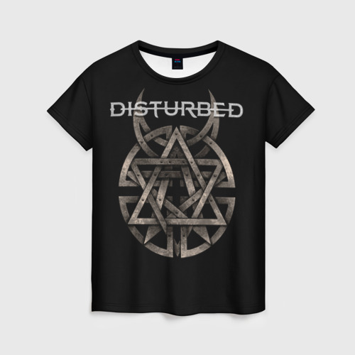 Женская футболка 3D Disturbed 2