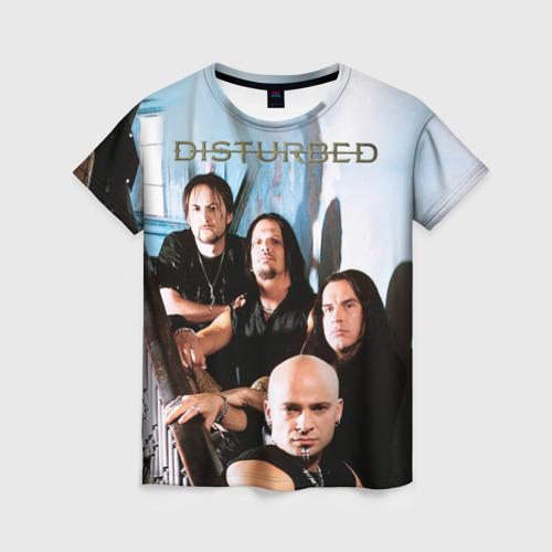 Женская футболка 3D Disturbed 6