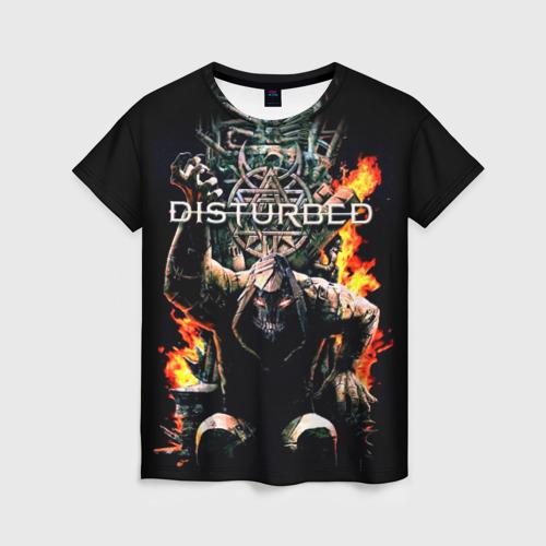 Женская футболка 3D Disturbed 11