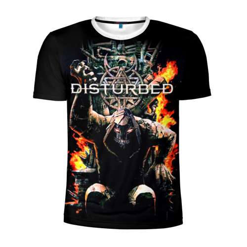 Мужская футболка 3D спортивная Disturbed 11