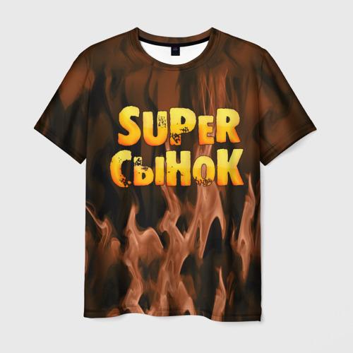 Мужская футболка 3D Супер сынок
