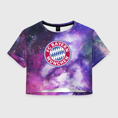 Женская футболка Crop-top 3D Бавария