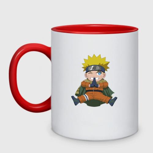 Кружка двухцветная Naruto Uzumaki winter