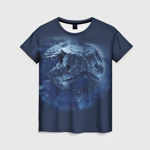 Женская футболка 3D Змея
