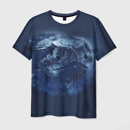 Мужская футболка 3D Змея
