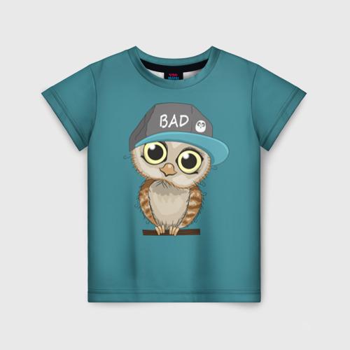 Детская футболка 3D Сова мальчик (парная)