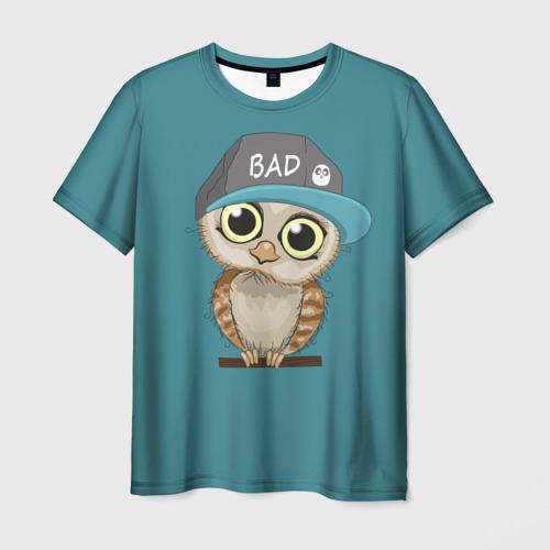 Мужская футболка 3D Сова мальчик (парная)