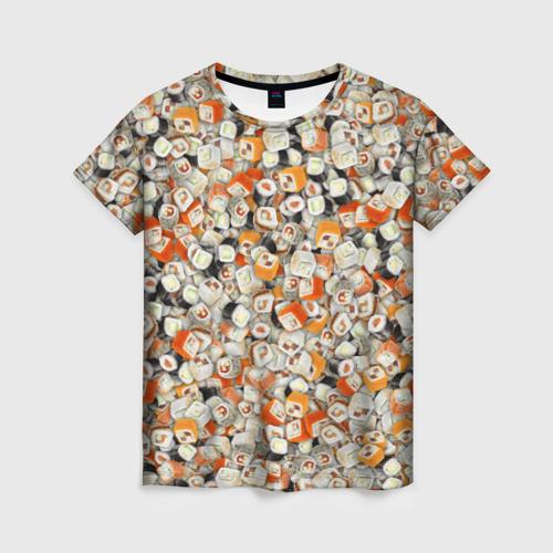Женская футболка 3D Суши